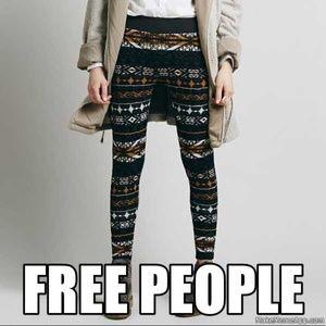 Free People Pants - FREE PEOPLE sweater leggings XSM